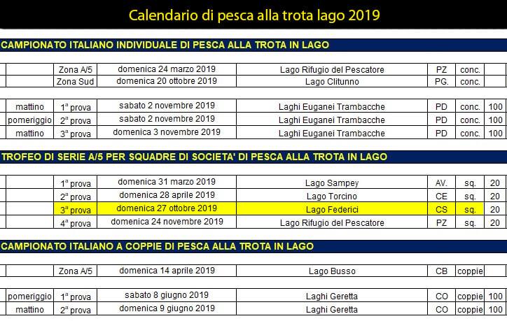 Atleti Calendario.Calendario Gare Pesca Di Superficie 2019 Asd Presila Pesca