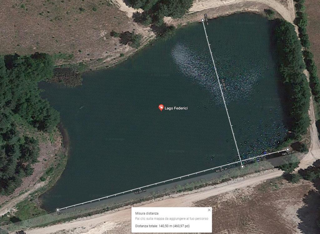 dimensioni lago federici