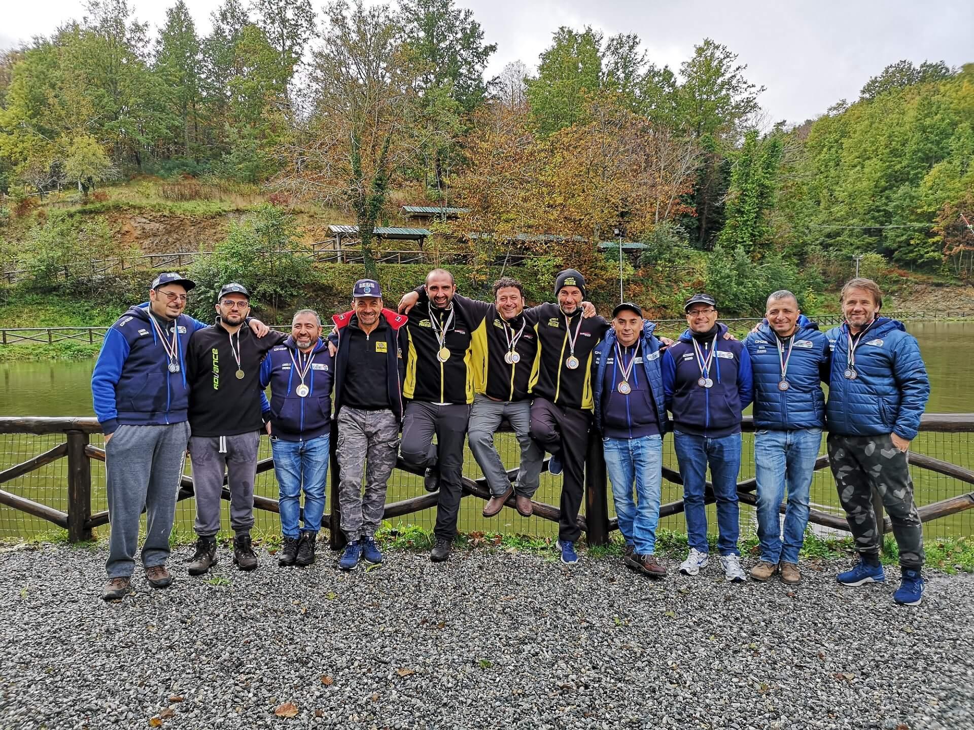 Podio della terza gara a squadre regionale calabria 2019