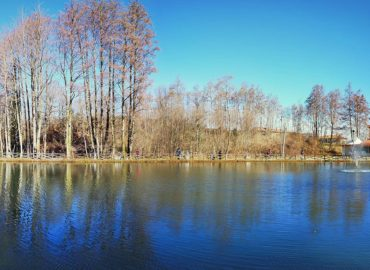 panoramica del lago alla gara a coppie cz 2020